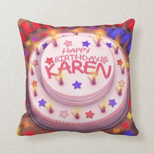 Torta del cumpleaños de Karen Cojin