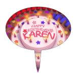 Torta del cumpleaños de Karen Decoración De Tarta