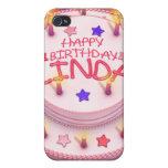 Torta del cumpleaños de Linda iPhone 4 Cobertura
