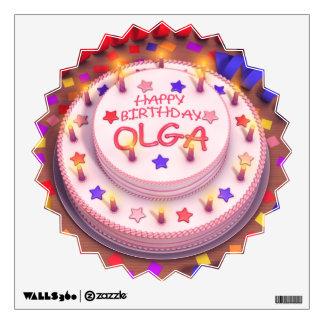 Torta del cumpleaños de Olga Vinilo Decorativo