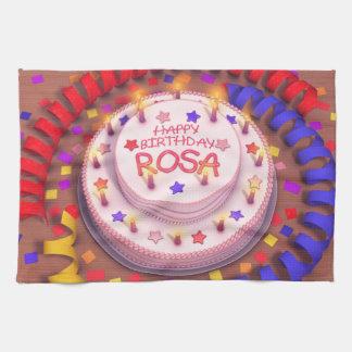 Torta del cumpleaños de Rosa Toalla