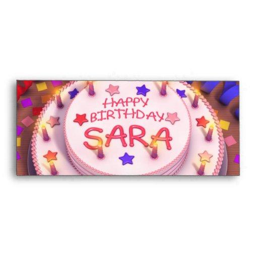 Torta del cumpleaños de Sara Sobres