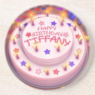 Torta del cumpleaños de Tiffany Posavasos Para Bebidas