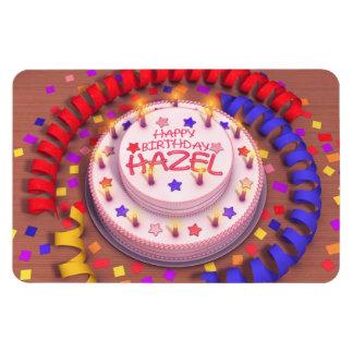 Torta del cumpleaños del avellano iman rectangular