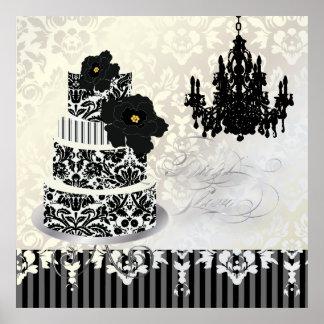 Torta del damasco de PixDezines desiree+lámpara Póster