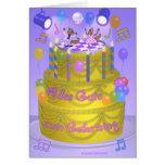 """Torta del """"feliz cumpleaños"""" (alemana) tarjeta de felicitación"""