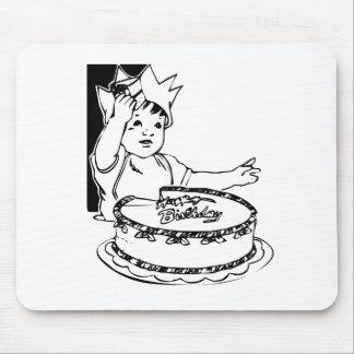 Torta del feliz cumpleaños del niño tapetes de ratones