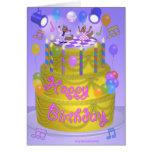 """Torta del """"feliz cumpleaños"""" (inglesa) tarjeta de felicitación"""