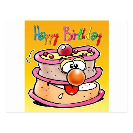 Torta del feliz cumpleaños postales