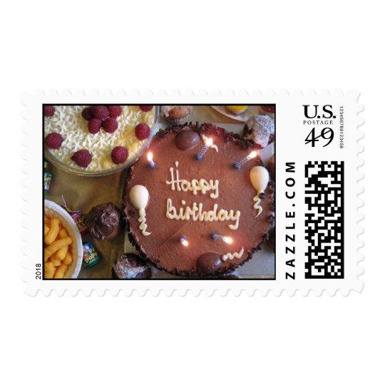 Torta del feliz cumpleaños sello