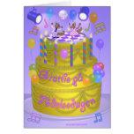 """Torta del """"feliz cumpleaños"""" (sueca) tarjeta de felicitación"""