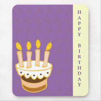 Torta del feliz cumpleaños mousepad