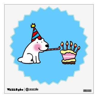 Torta del feliz cumpleaños vinilo