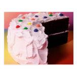 Torta del fiesta del arco iris tarjetas postales