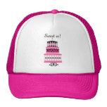 Torta del fiesta del rosa y del negro gorras de camionero