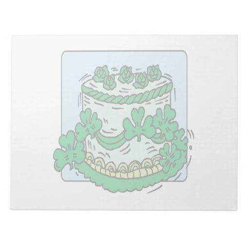 Torta del irlandés bloc de papel