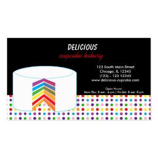 Torta del negocio del arco iris tarjetas de visita