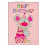 Torta del ratón del feliz cumpleaños de los chicas