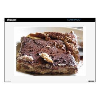 Torta del Tiramisu. Postre clásico italiano Calcomanía Para Portátil