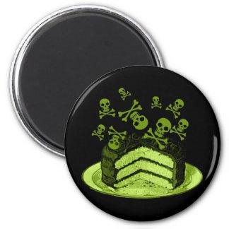 Torta del veneno imán redondo 5 cm