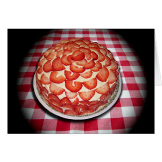 Torta deliciosa de la fresa tarjeta