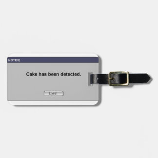 ¡Torta detectada! Etiqueta De Equipaje