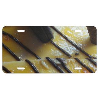 Torta dulce placa de matrícula