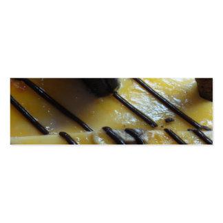 Torta dulce tarjetas de visita mini