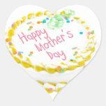 Torta feliz del día de madre colcomanias de corazon