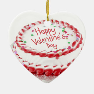 Torta feliz del el día de San Valentín Ornamentos De Reyes Magos