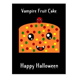 """Torta """"feliz Halloween """" de la fruta del vampiro Postal"""