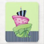 Torta feliz Mousepad Alfombrilla De Raton