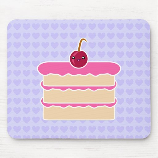 Torta feliz Mousepad de Kawaii de las pilas