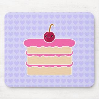 Torta feliz Mousepad de Kawaii de las pilas Alfombrillas De Raton