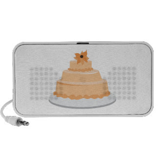 Torta floral iPod altavoz