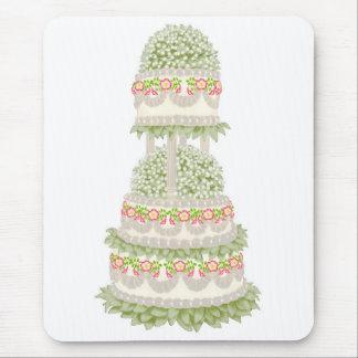 Torta floral de lujo Mousepad del fiesta