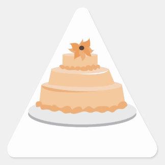Torta floral pegatina triangular