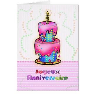 Torta francesa del feliz cumpleaños de Jolyeux Ann Felicitaciones