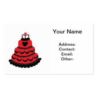 Torta gótica de los corazones rojos tarjetas de visita