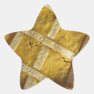 Torta italiana tradicional Pastiera Napoletana Pegatina En Forma De Estrella