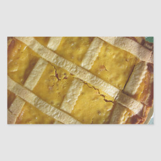 Torta italiana tradicional Pastiera Napoletana Pegatina Rectangular