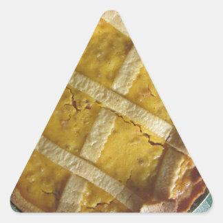 Torta italiana tradicional Pastiera Napoletana Pegatina Triangular