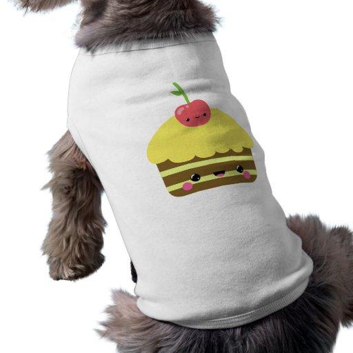 Torta linda del limón del chocolate de Kawaii Camiseta De Perrito