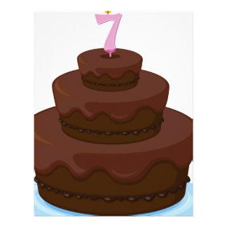 torta marrón membrete