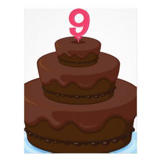 torta marrón membretes personalizados