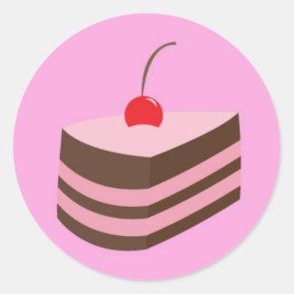 torta mmm pegatina redonda