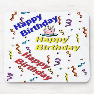 Torta Mousepad del feliz cumpleaños