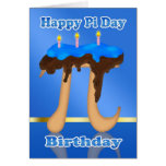 Torta pi día 3,14 cumpleaños del 14 de marzo felicitaciones