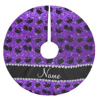 Torta púrpura de los globos de las coronas del falda para arbol de navidad de poliéster
