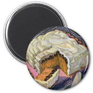Torta retra de la pasa de la especia de la torta d imán redondo 5 cm